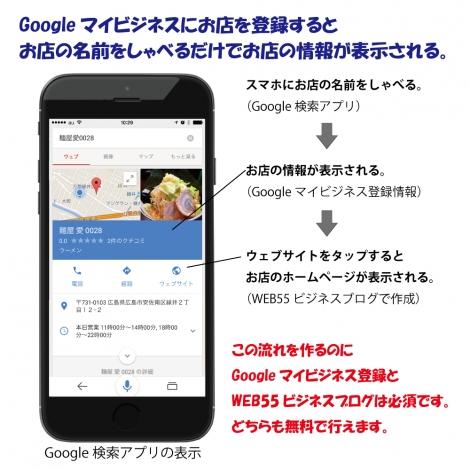 WEB55 ビジネスブログ Googleマイビジネスに最適です。