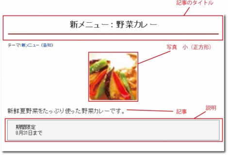 WEB55 ビジネスブログ 写真の大きさ 小(正方形);;