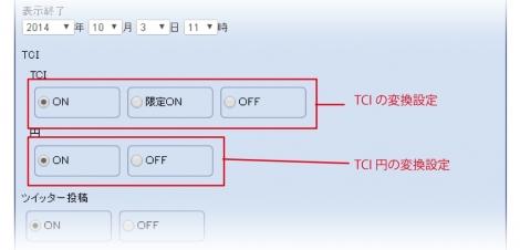 WEB55 ビジネスブログ TCI設定