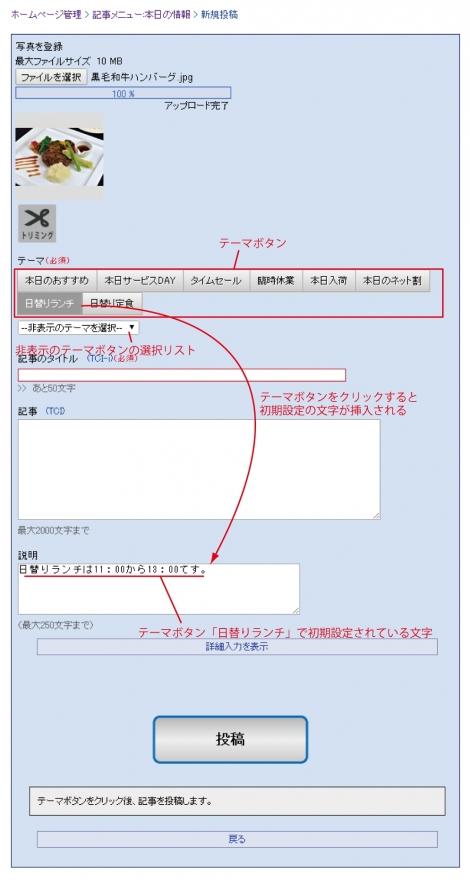 WEB55ビジネスブログおまかせパック この記事の新規投稿画面↓