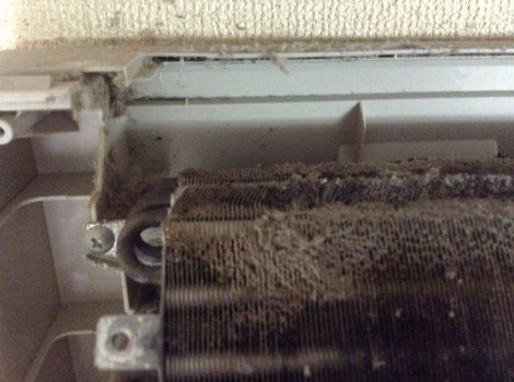 浜松おそうじハウス エアコンNational自動掃除熱交換器上部左