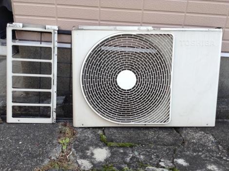 浜松おそうじハウス エアコン室外機分解3