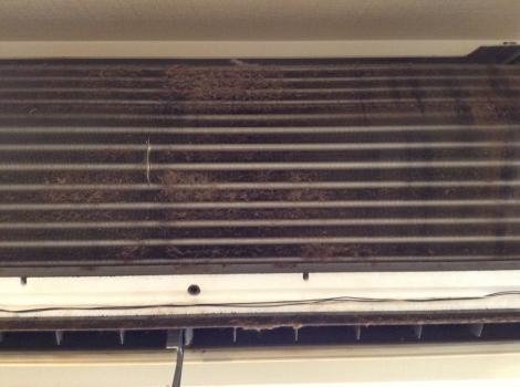 浜松おそうじハウス エアコン熱交換器2before