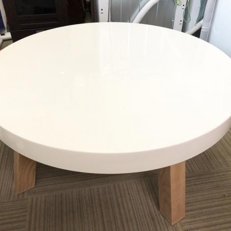 リサイクル & アウトレット はっぴー 美品!フランフラン コーヒーテーブル・ローテーブル北欧風 鏡面仕上げ