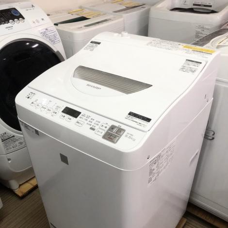 リサイクル & アウトレット はっぴー 初売り大特価!超美品!高級エディオンモデル シャープ2018年製 5.5/3.5kg全自動洗濯乾燥機