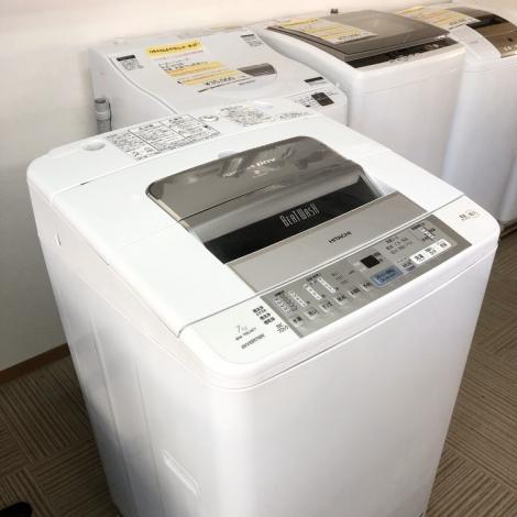 リサイクル & アウトレット はっぴー 【お買い得】美品♪ 日立 2010年製 7.0kg全自動洗濯機《ビートウォッシュ》 ホワイト♪