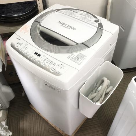 リサイクル & アウトレット はっぴー 【超美品】高級エディオンモデル♪ 東芝 2016年製 7kg全自動洗濯機《マジックドラム》