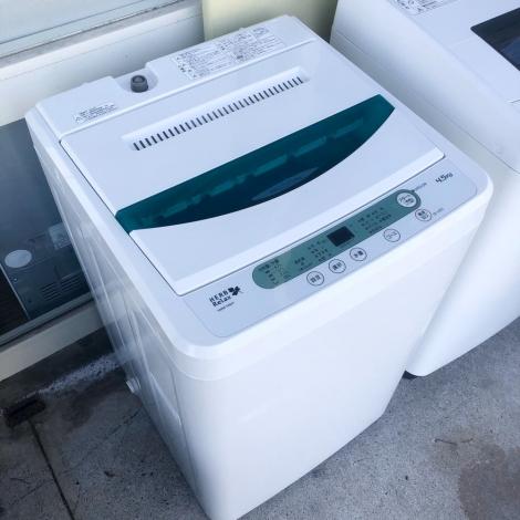 リサイクル & アウトレット はっぴー 【超美品】ヤマダ電機オリジナル♪ HERB Relax 4.5kg全自動洗濯機 ホワイト♪