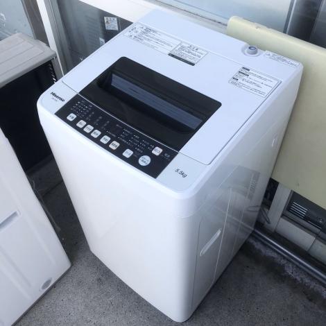 リサイクル & アウトレット はっぴー 【美品】ハイセンス 2017年製 5.5kg全自動洗濯機 ホワイト♪