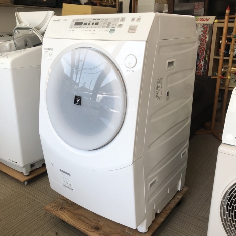 リサイクル & アウトレット はっぴー 【お買い得】シャープ 2011年製 10.0/6.0kgドラム式洗濯乾燥機《ホットスチーム》