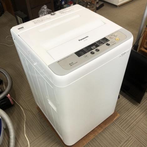 リサイクル & アウトレット はっぴー 【美品】パナソニック 2015年製 5.0kg全自動洗濯機 シルバー♪