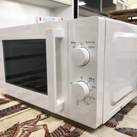 リサイクル & アウトレット はっぴー 【新品同様】ニトリ 2019年製 17Lシンプル機能電子レンジ ホワイト♪