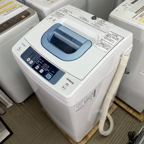 リサイクル & アウトレット はっぴー 歳末セール【美品】定価49280円♪ 日立 2015年製 5.0kg全自動洗濯機 ピュアホワイト
