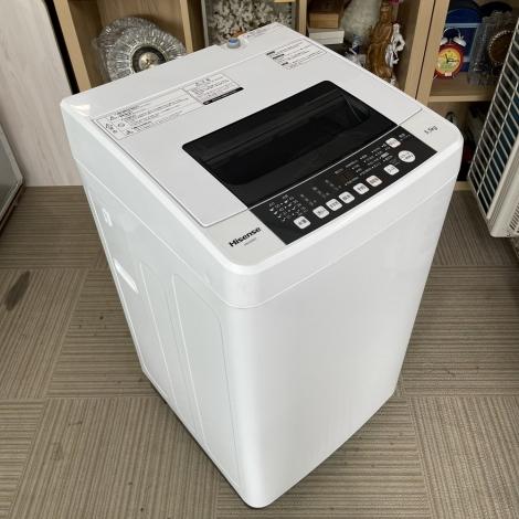 リサイクル & アウトレット はっぴー 【激安商品】エディオンモデル♪ ハイセンス 2016年製 5.5kg全自動洗濯機